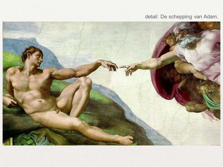 detail: De schepping van Adam.