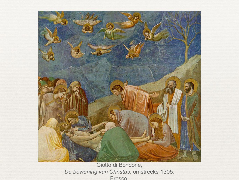 Giotto di Bondone, De bewening van Christus, omstreeks 1305. Fresco.