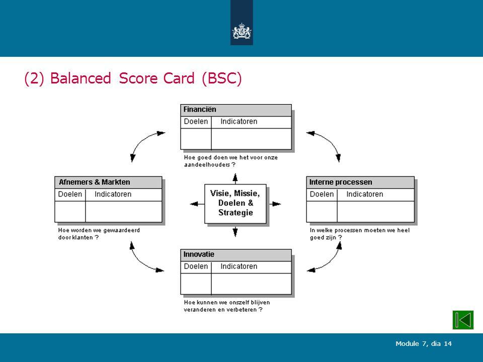 Module 7, dia 14 (2) Balanced Score Card (BSC)