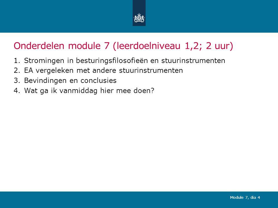 Module 7, dia 15 (2) Toegevoegde waarde EA in combinatie met BSC