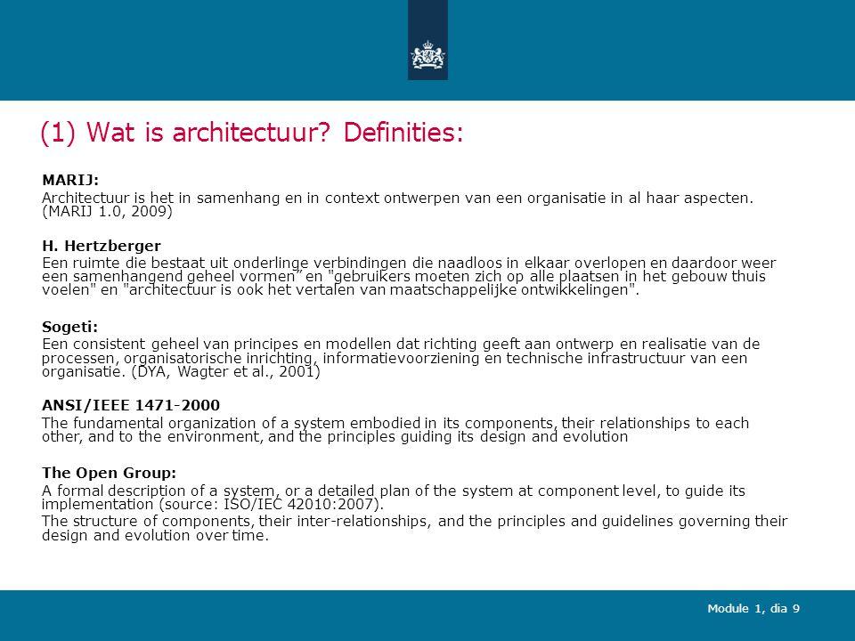 Module 1, dia 9 (1) Wat is architectuur.