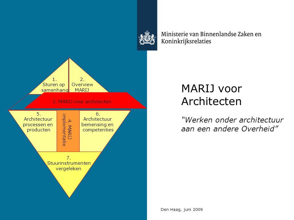 MARIJ voor Architecten Werken onder architectuur aan een andere Overheid Den Haag, juni 2009 5.
