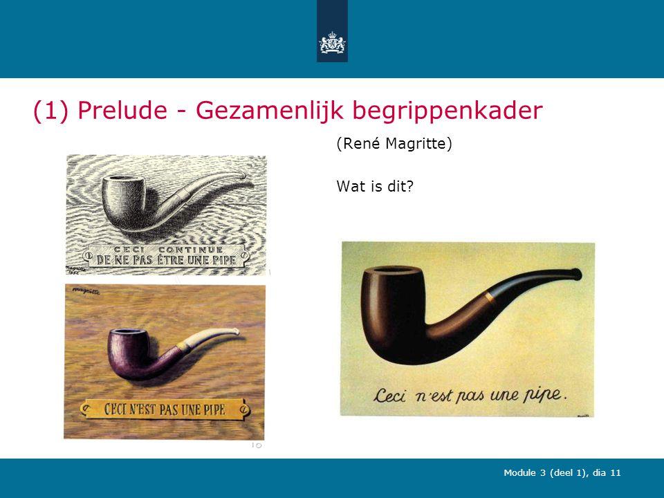 Module 3 (deel 1), dia 11 (1) Prelude - Gezamenlijk begrippenkader (René Magritte) Wat is dit?