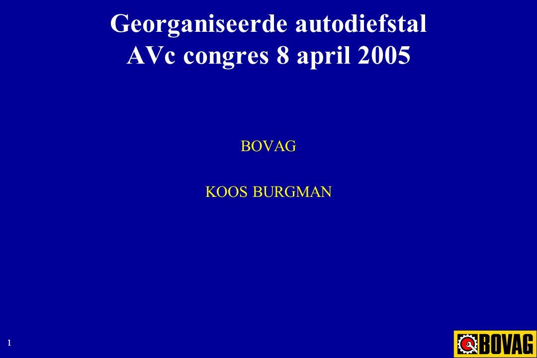 1 Georganiseerde autodiefstal AVc congres 8 april 2005 BOVAG KOOS BURGMAN