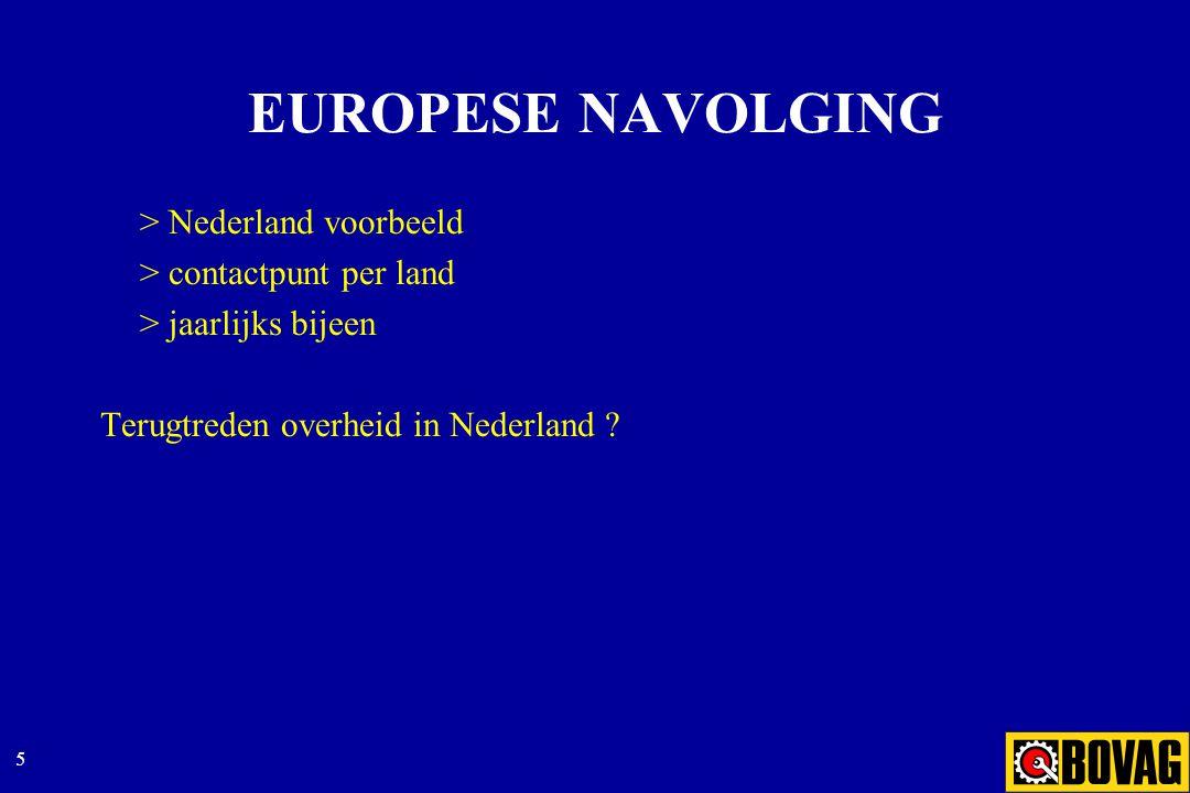 5 EUROPESE NAVOLGING > Nederland voorbeeld > contactpunt per land > jaarlijks bijeen Terugtreden overheid in Nederland