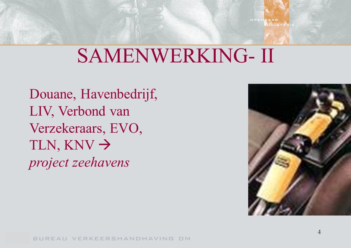 4 SAMENWERKING- II Douane, Havenbedrijf, LIV, Verbond van Verzekeraars, EVO, TLN, KNV  project zeehavens