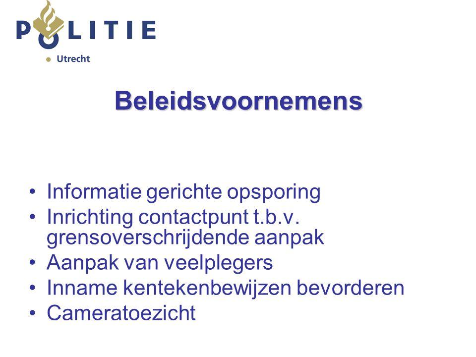 Beleidsvoornemens Informatie gerichte opsporing Inrichting contactpunt t.b.v.