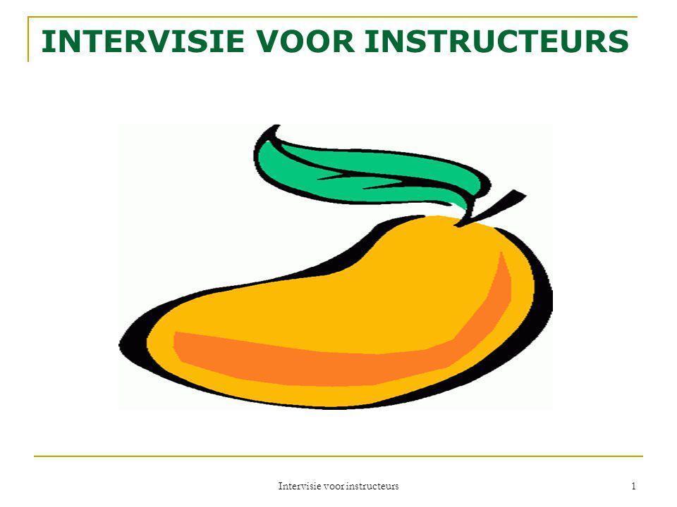 Intervisie voor instructeurs 1 INTERVISIE VOOR INSTRUCTEURS