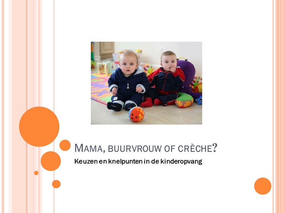 M AMA, BUURVROUW OF CRÈCHE Keuzen en knelpunten in de kinderopvang