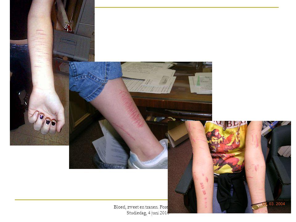 Bloed, zweet en tranen. Forensische Studiedag, 4 juni 2010
