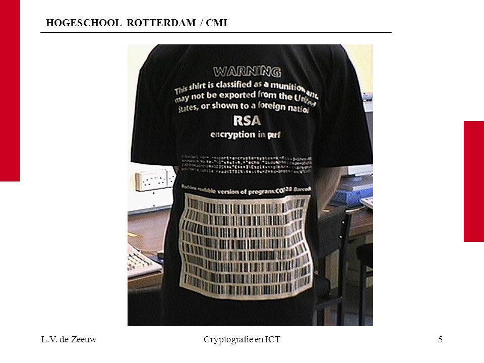 HOGESCHOOL ROTTERDAM / CMI L.V. de ZeeuwCryptografie en ICT5