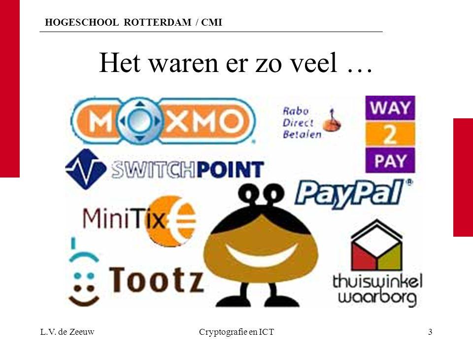 HOGESCHOOL ROTTERDAM / CMI iDEAL In oktober 2005 werd iDEAL, als betaalstandaard in Nederland voor directe betalingen op Internet, geïntroduceerd.iDEAL Alle grote Nederlandse banken doen hieraan mee.