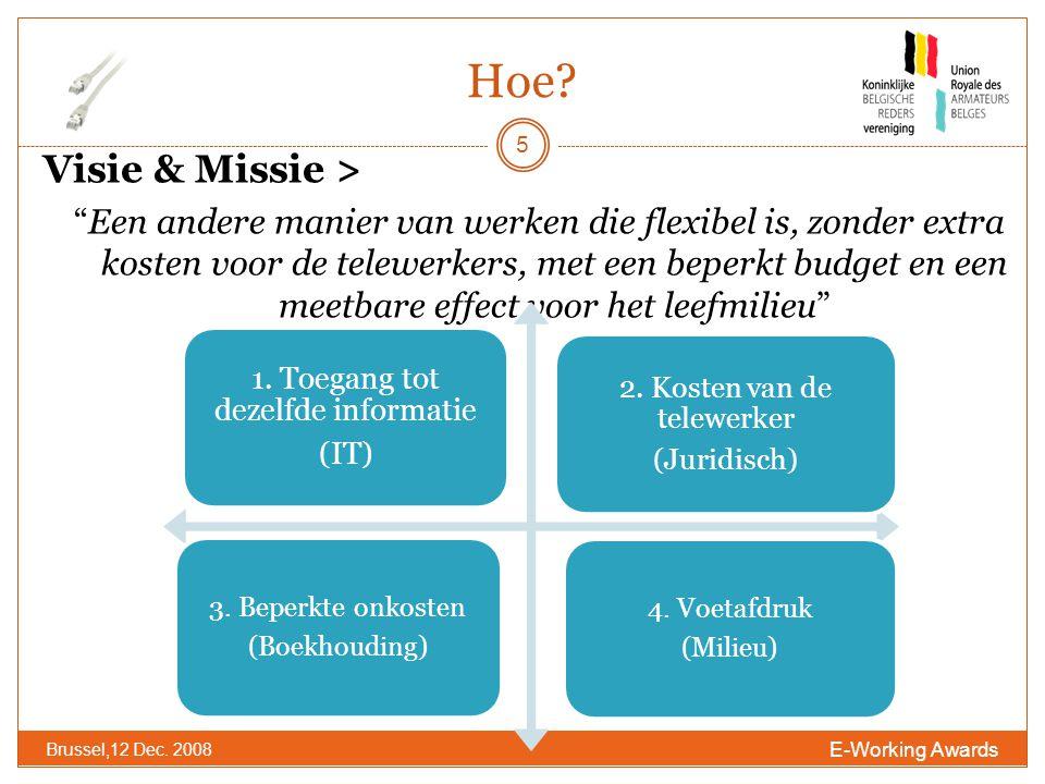Hoe. E-Working Awards Brussel,12 Dec.