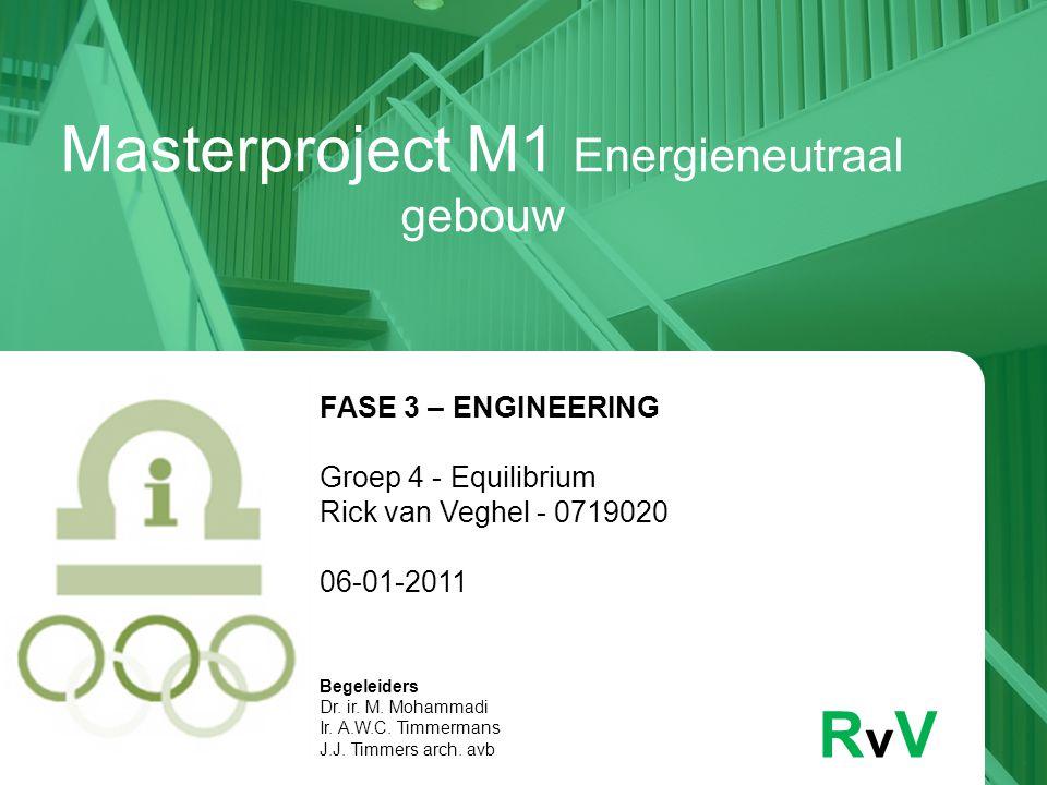 Masterproject M1 Energieneutraal gebouw RvVRvV FASE 3 – ENGINEERING Groep 4 - Equilibrium Rick van Veghel - 0719020 06-01-2011 Begeleiders Dr. ir. M.