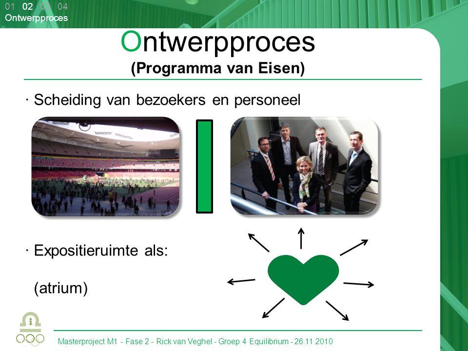 Masterproject M1 - Fase 2 - Rick van Veghel - Groep 4 Equilibrium - 26.11.2010 01 02 03 04 Ontwerpproces Ontwerpproces (Programma van Eisen) · Scheidi