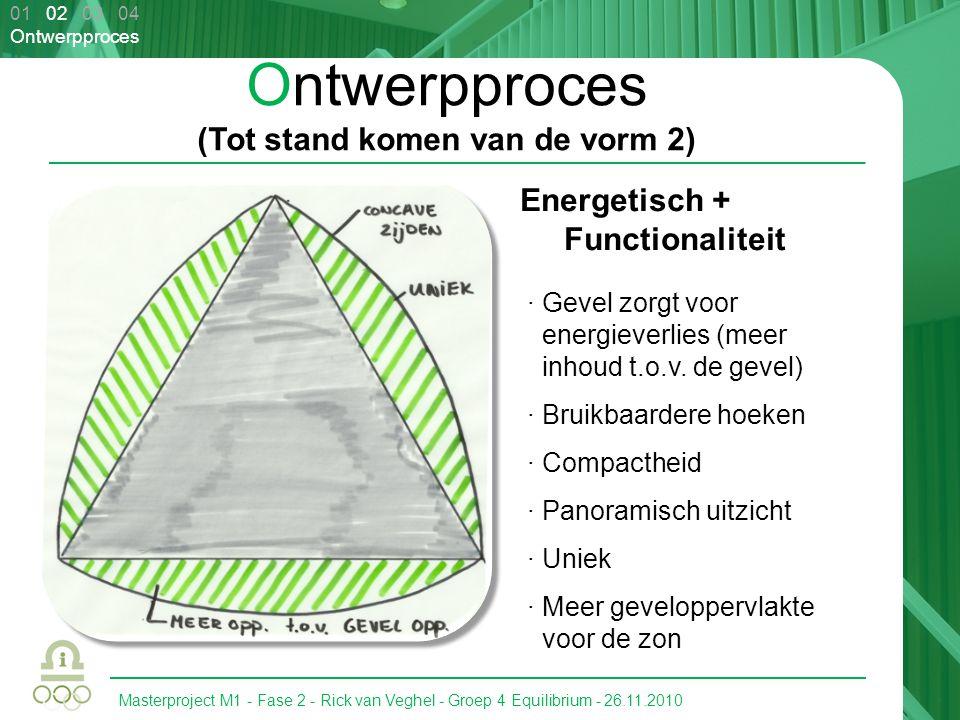 Masterproject M1 - Fase 2 - Rick van Veghel - Groep 4 Equilibrium - 26.11.2010 01 02 03 04 Ontwerpproces Ontwerpproces (Tot stand komen van de vorm 2)