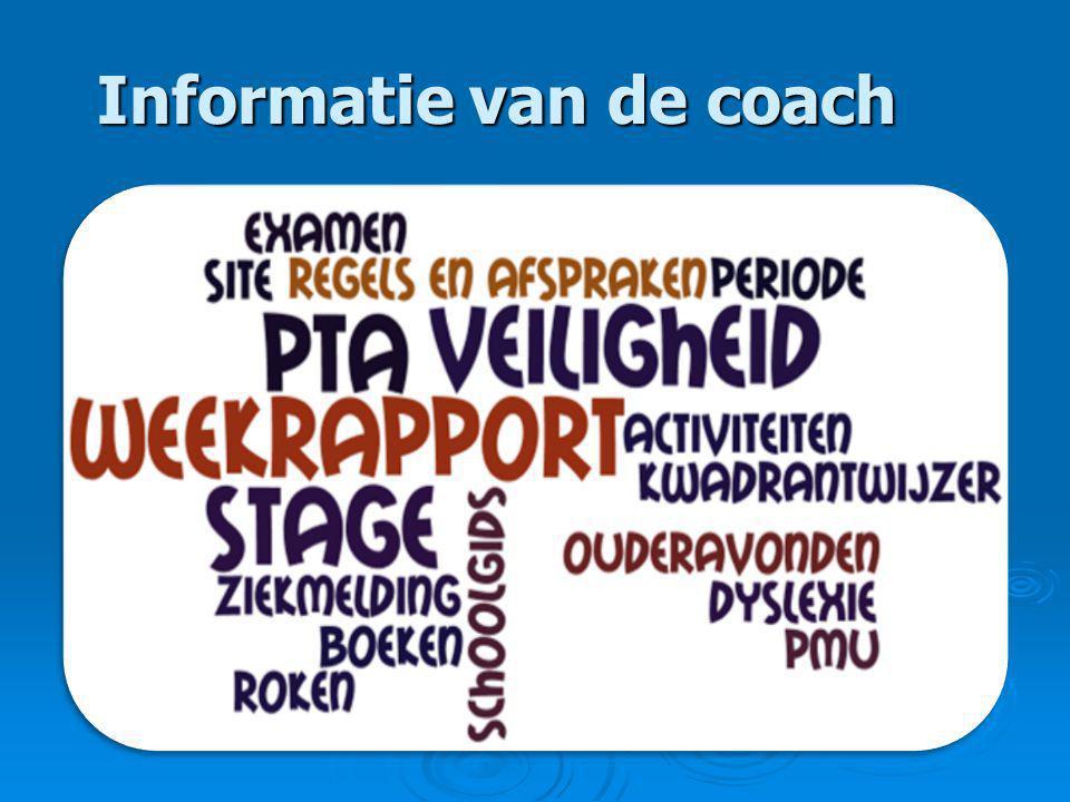 Informatie van de coach