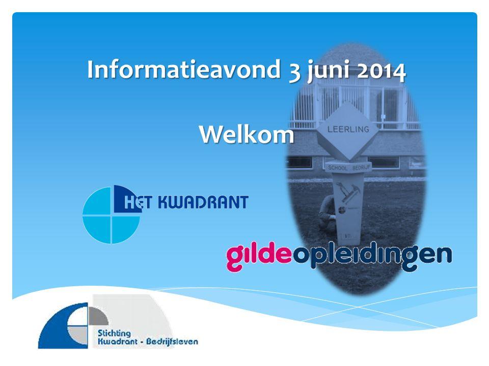Informatieavond 3 juni 2014 Welkom