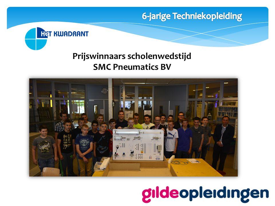 Prijswinnaars scholenwedstijd SMC Pneumatics BV
