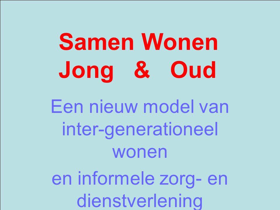 Samen Wonen Jong & Oud Een nieuw model van inter-generationeel wonen en informele zorg- en dienstverlening