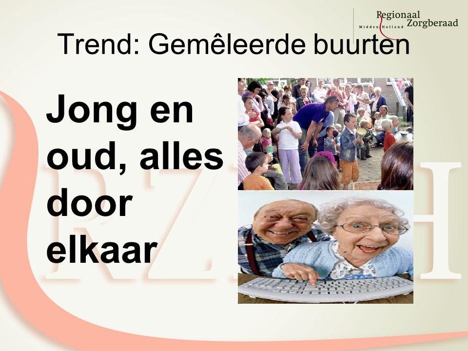Trend: Gemêleerde buurten Jong en oud, alles door elkaar