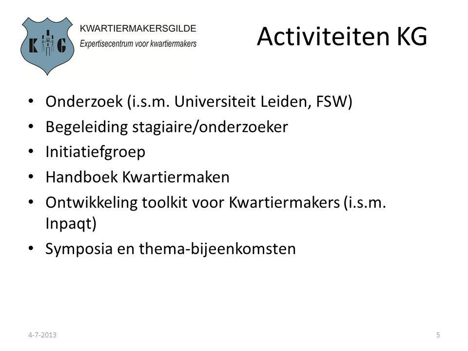 Thema's 4-7-20136 Mogelijke thema's voor uitwerking: Modernisering van het ambacht (leermeester-gezel principe) Kwartiermaken in de private sector Kwartiermaken en zorg (ketens en netwerken) Kwartiermaken en veiligheid Interesse om te participeren/ eigen initiatief?