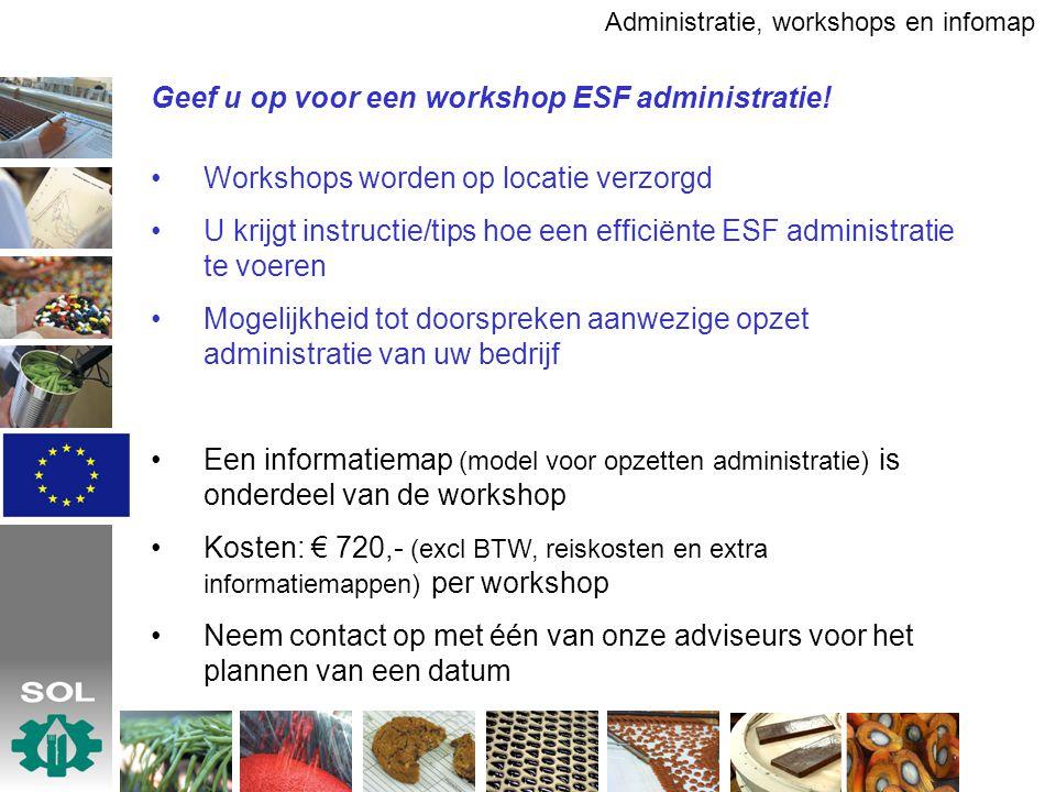 Geef u op voor een workshop ESF administratie.