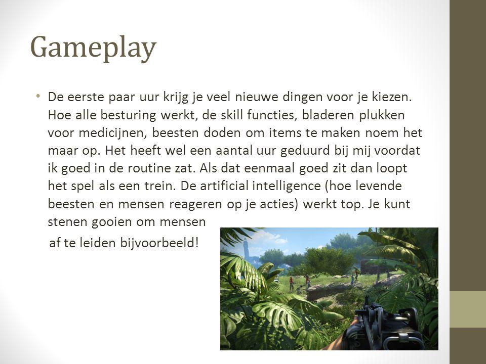 Gameplay De eerste paar uur krijg je veel nieuwe dingen voor je kiezen.