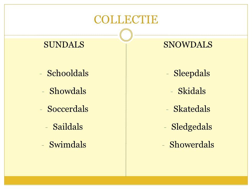 COLLECTIE SUNDALS - Schooldals - Showdals - Soccerdals - Saildals - Swimdals SNOWDALS - Sleepdals - Skidals - Skatedals - Sledgedals - Showerdals