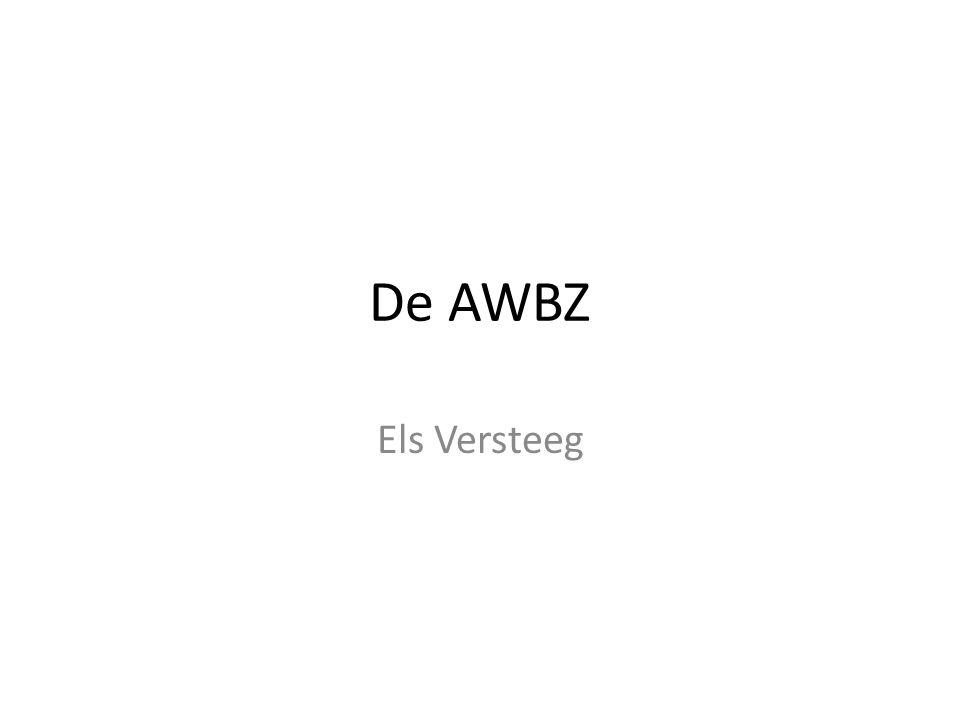 De AWBZ Els Versteeg