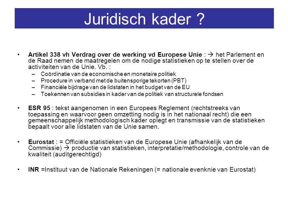 ESR95 & convergentiecriteria van de EU-landen .