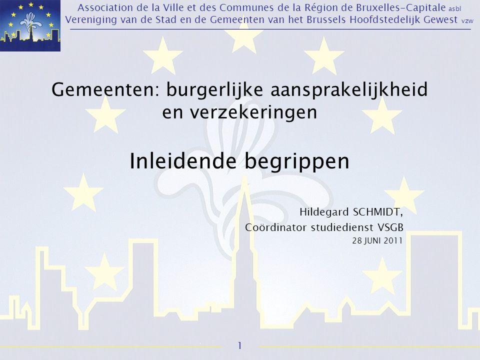 Association de la Ville et des Communes de la Région de Bruxelles-Capitale asbl Vereniging van de Stad en de Gemeenten van het Brussels Hoofdstedelijk