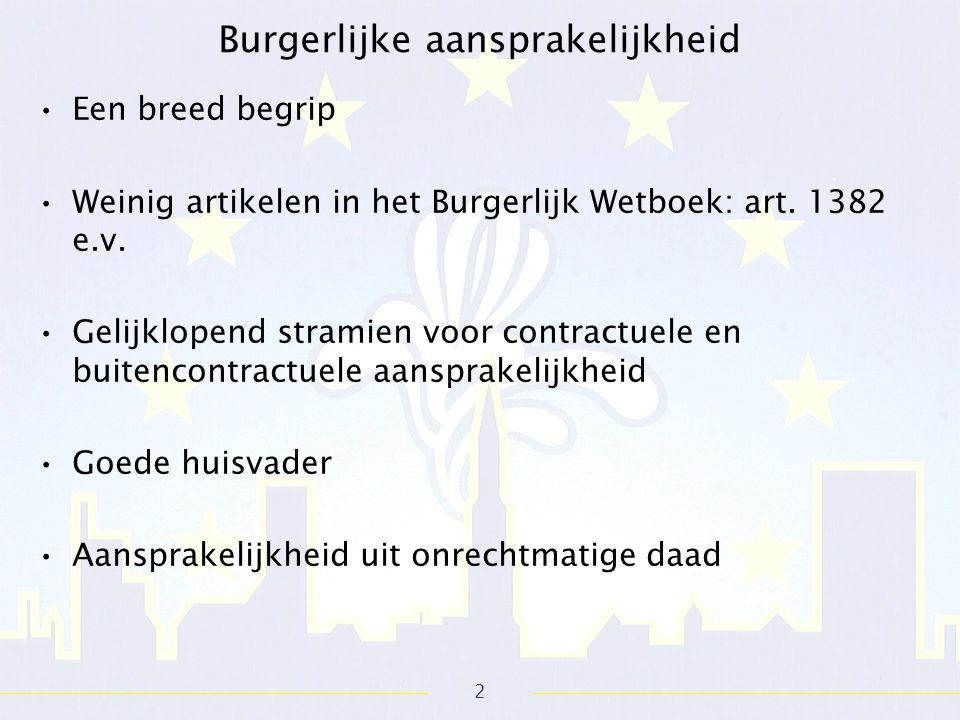 2 Een breed begrip Weinig artikelen in het Burgerlijk Wetboek: art.