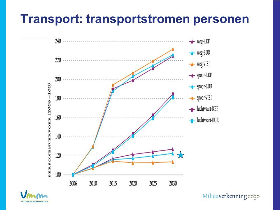 Transport: transportstromen personen