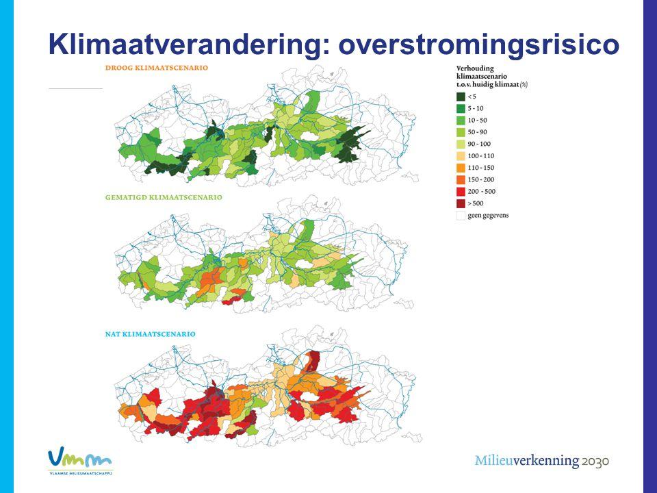 Klimaatverandering: overstromingsrisico