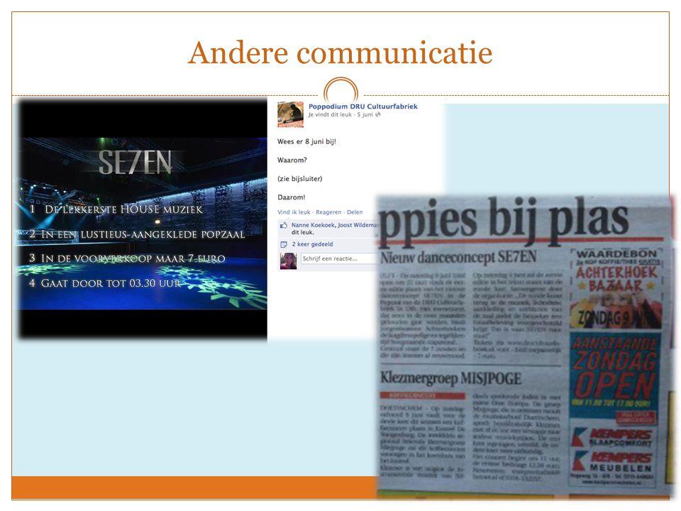 Andere communicatie