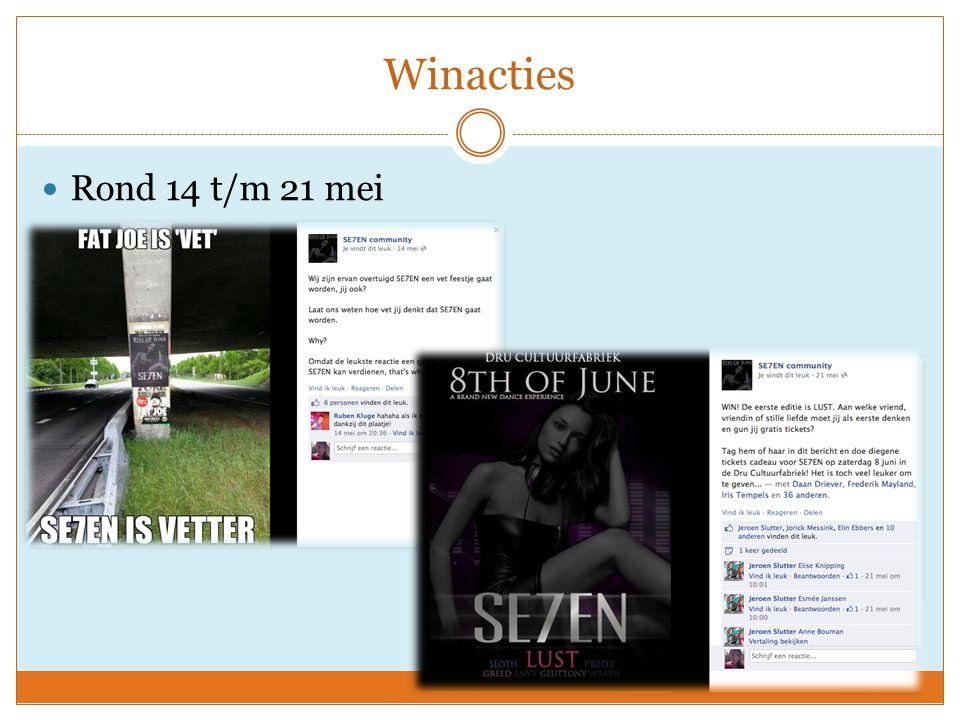Bekendmaking DJ's & Pre-party Vanaf 22 mei werden de DJ's bekend gemaakt via Facebook 25 mei 'zogenaamde pre-party' https://www.facebook.com/photo.php?v=660242790 657487