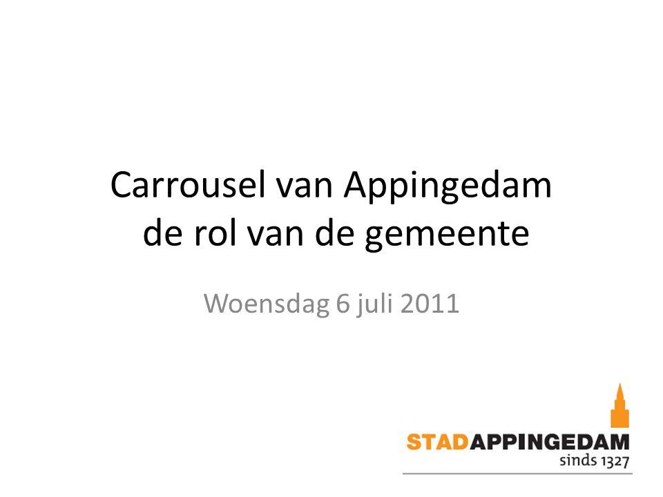Carrousel van Appingedam de rol van de gemeente Woensdag 6 juli 2011