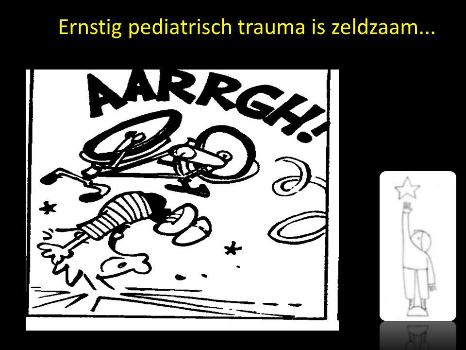 Ernstig pediatrisch trauma is zeldzaam...