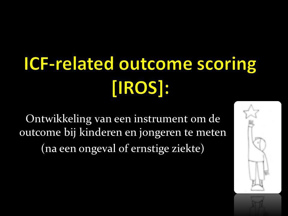 Ontwikkeling van een instrument om de outcome bij kinderen en jongeren te meten (na een ongeval of ernstige ziekte)
