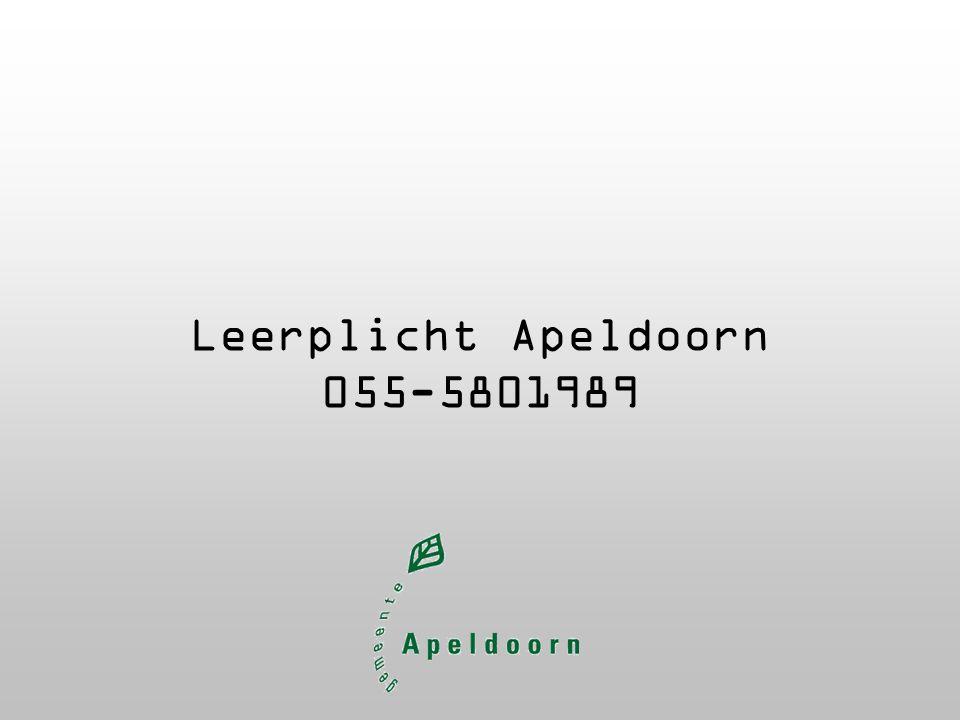 Leerplicht Apeldoorn 055-5801989