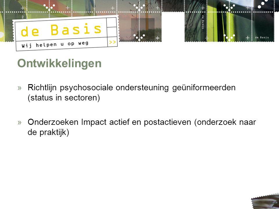 Ontwikkelingen »Richtlijn psychosociale ondersteuning geüniformeerden (status in sectoren) »Onderzoeken Impact actief en postactieven (onderzoek naar de praktijk)