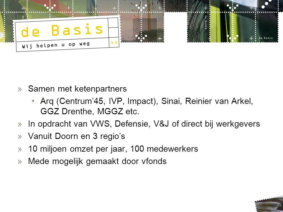»Samen met ketenpartners Arq (Centrum'45, IVP, Impact), Sinai, Reinier van Arkel, GGZ Drenthe, MGGZ etc.