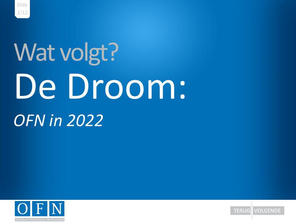 Wat volgt? De Droom: OFN in 2022 2/12 Slide