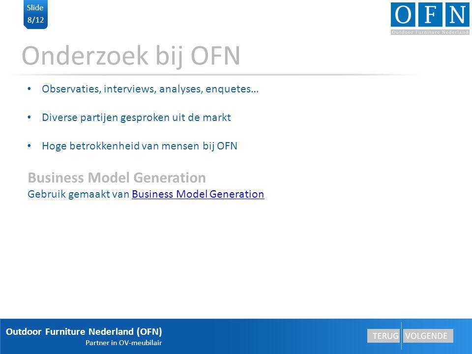 Outdoor Furniture Nederland (OFN) Partner in OV-meubilair 9/12 Slide