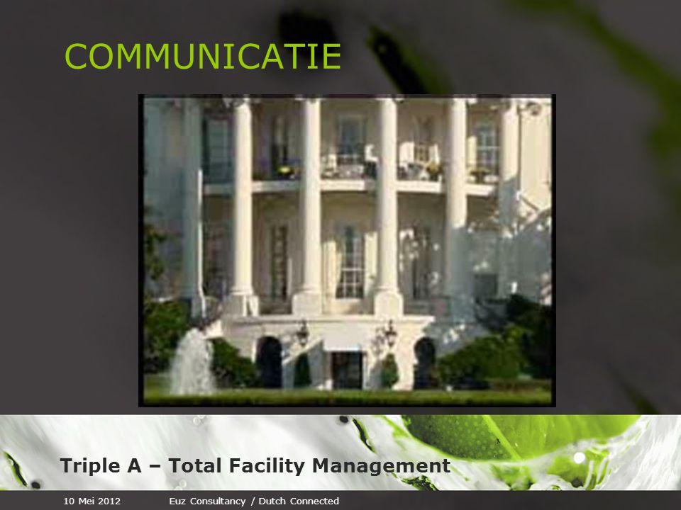Triple A – Total Facility Management COMMUNICATIE 10 Mei 2012Euz Consultancy / Dutch Connected