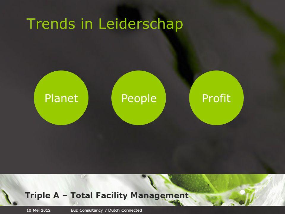 Triple A – Total Facility Management Trends in Leiderschap PlanetPeopleProfit 10 Mei 2012Euz Consultancy / Dutch Connected