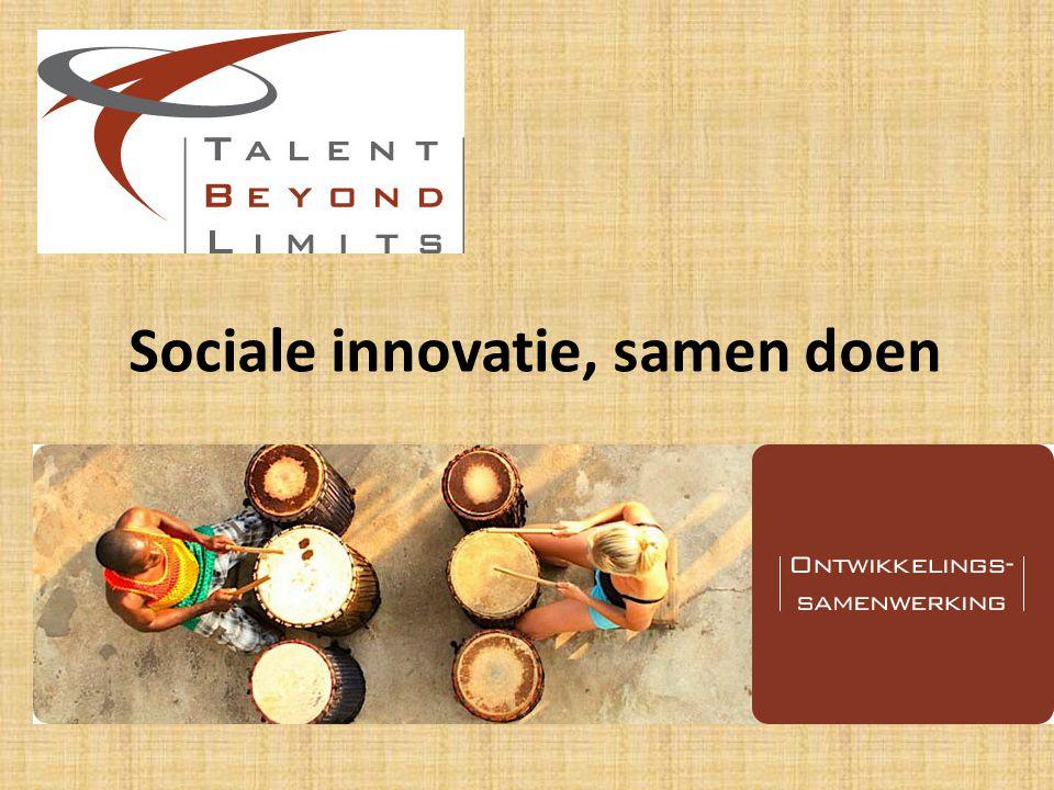 Sociale innovatie, samen doen
