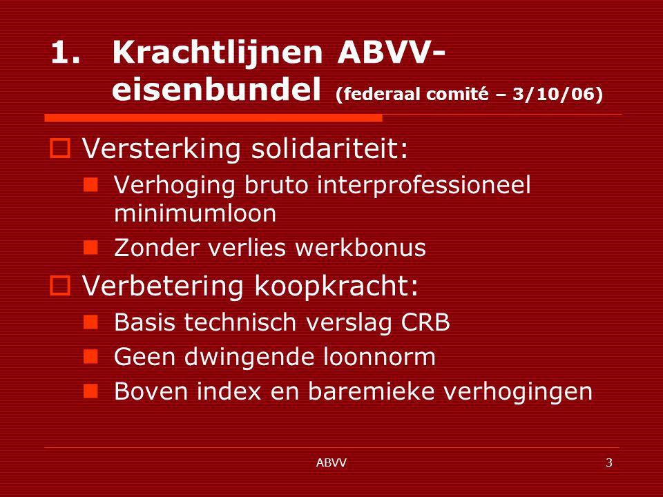 ABVV44 1.5.Arbeidsorganisatie en kwaliteit van de arbeid 1.5.4.