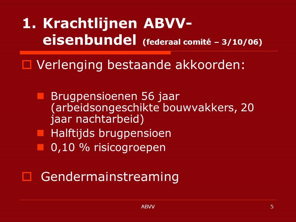 ABVV36 1.5.Arbeidsorganisatie en kwaliteit van de arbeid 1.5.1.